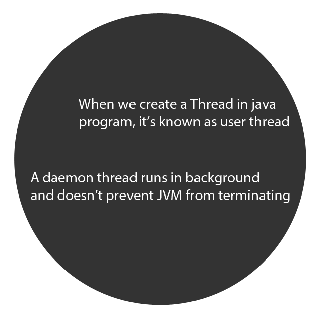 USerThread vs Daemon thread in java