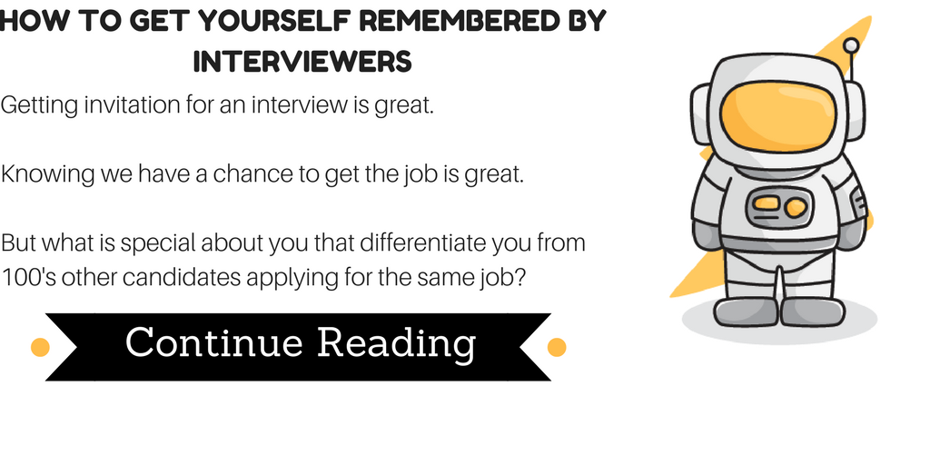 How to get yourself remembered in interviews