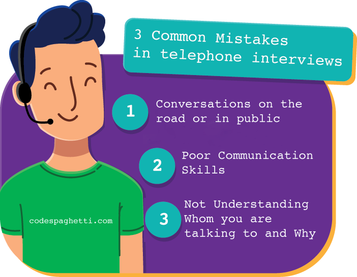 Mistakes in phone interviews