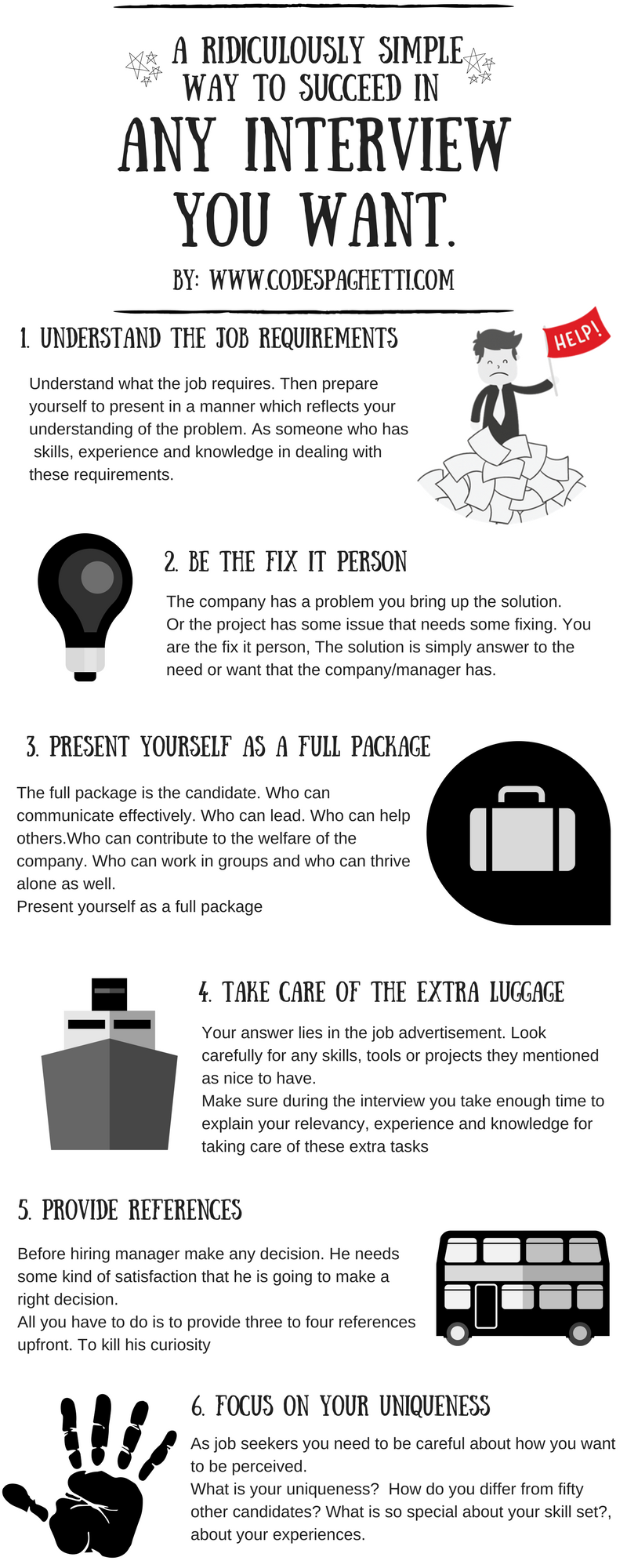 How to make great first impression in interview infographic