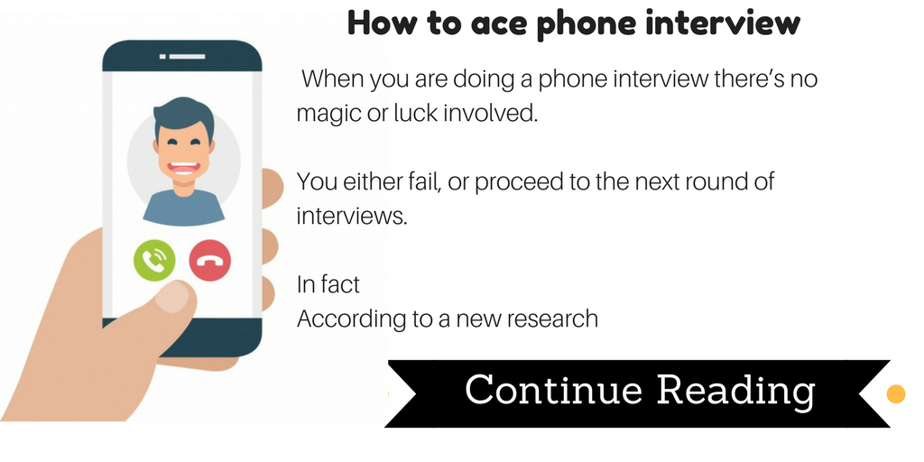How to ace phone interviews